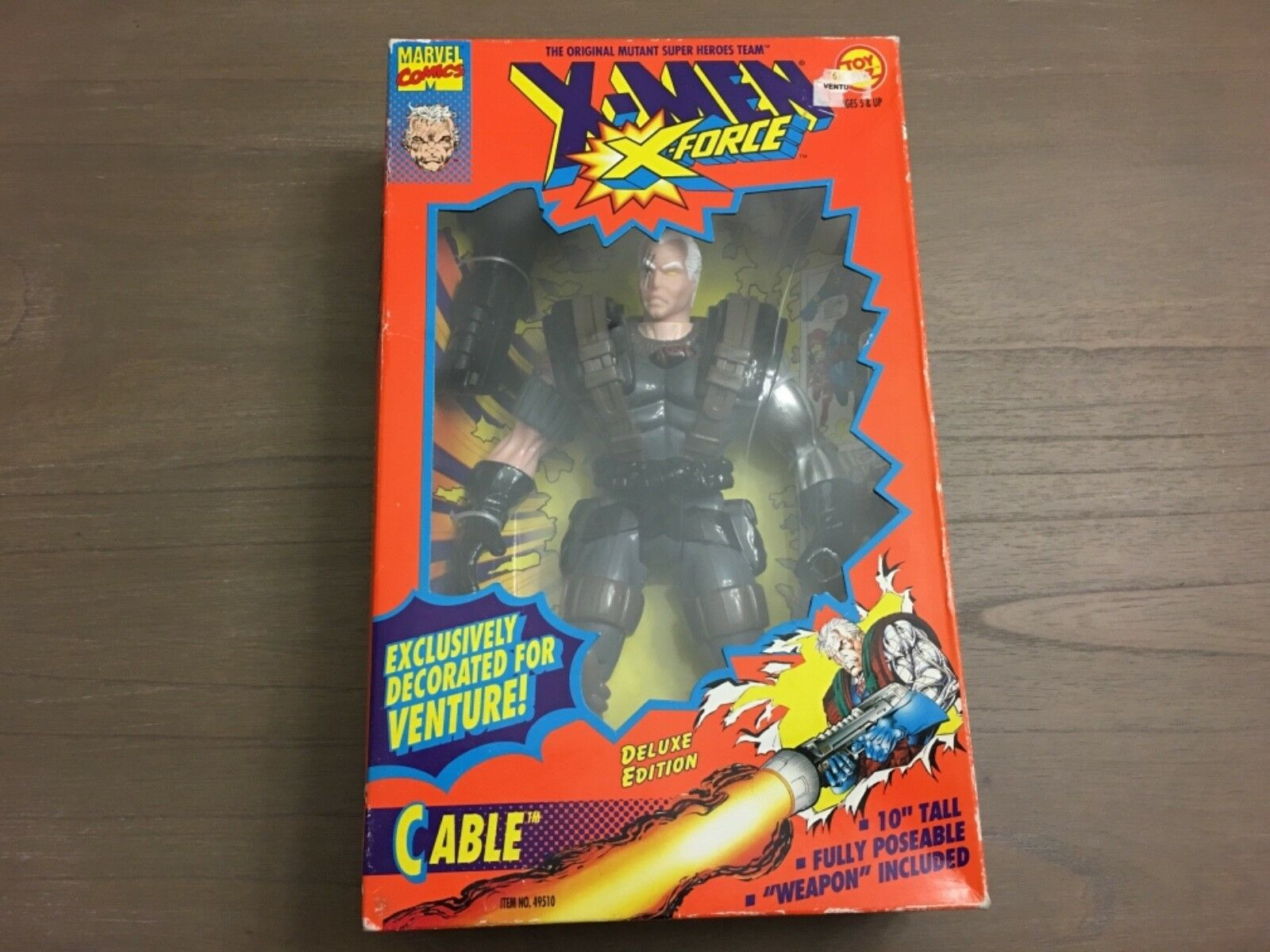 Marvel universe toybiz cable 1994 10 inch figure