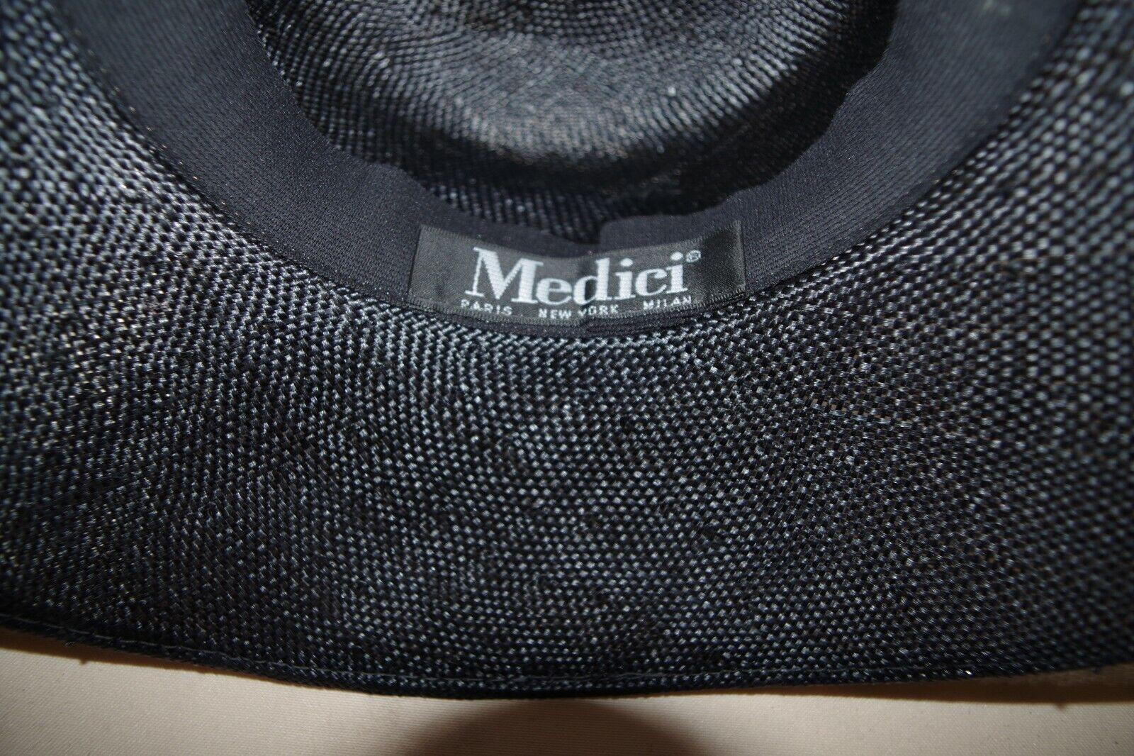 MEDICI WIDE BRIM STRAW HAT WIDE BRIM BLACK & TAN … - image 9