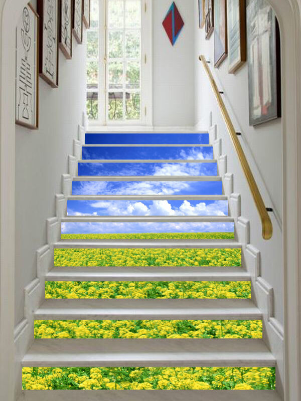3D Canola Blaume 438 Stair Risers Dekoration Fototapete Vinyl Aufkleber Tapete DE