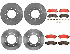 2009 2010 2011 Ford F-250 F-350 4WD Front /& Rear Disc Rotors /& Ceramic Pads