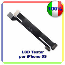 NOVITA' TESTER TEST LCD DISPLAY TOUCH SCREEN SCHERMO CAVO FLAT IPHONE 5S