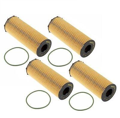 5Set Oil Filter 079198405E For Audi S5 S6 S8 Q7 A6 A8 Quattro VW Touareg HU7005X