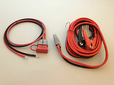 4 GAUGE 20 FT QUICK DISCONNECT JUMPER-BOOSTER CABLE SET, TOW-SERVICE TRUCK 2425B