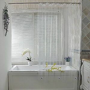 Buy Shower Curtain Liner Clear PEVA Waterproof With 3 Magnets Bottom