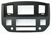 Dodge Ram Slate Grey Black Silver Aftermarket Stereo Radio Double Din Dash Kit