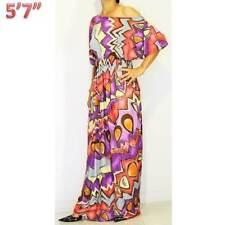 NWT S/M/L 8 10 12 NEW Short Sleeve Colorful Bridal Jersey Gypsy Maxi Long Dress
