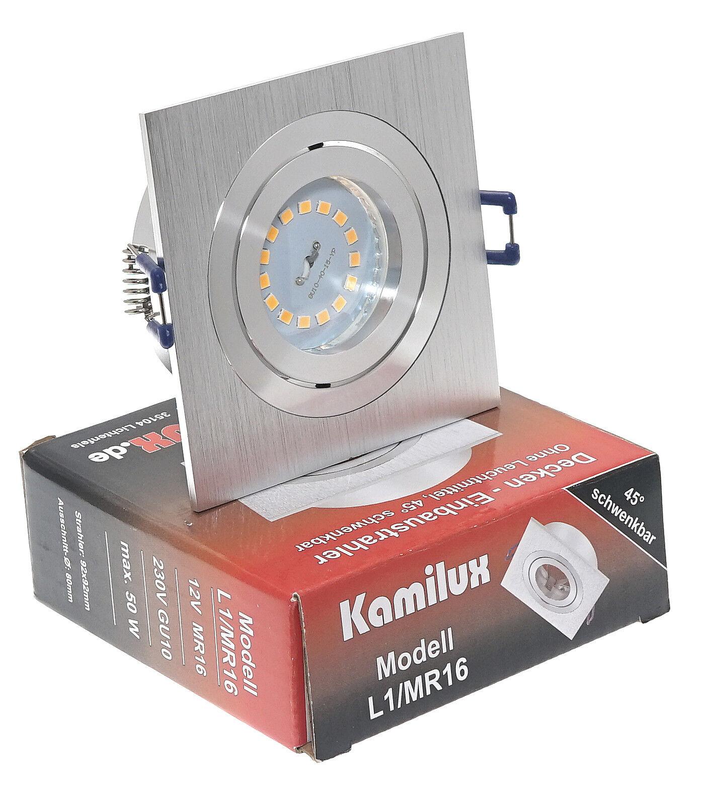 5-15X KANTO Einbaustrahler 5W SMD-LED DIMMBAR schwenk.&drehbar Einbauleuchte Set
