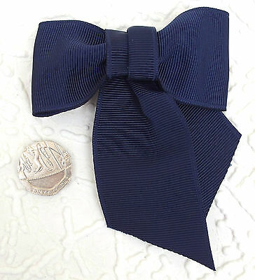 Large ribbon bows NAVY BLUE Grosgrain Sewing craft 75 mm 3 inch 6 12 or 48