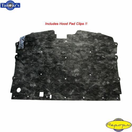 88-98 C//K Pickup Blazer Suburban 1pc Hood Liner Insulation Pad /& Retaining CLIPS