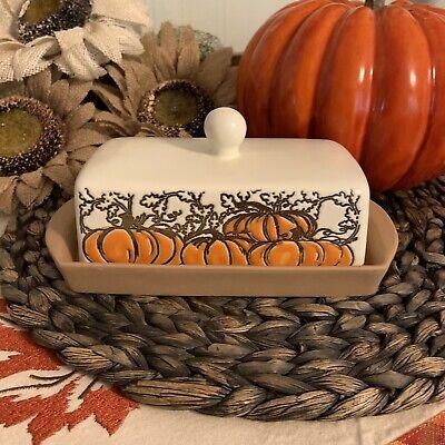 inHomestylez Pumpkin Gold Glazed Stoneware Halloween Fall Dining Kitchen Sets