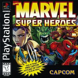 Marvel-Super-Heroes-PS1-Great-Condition-Fast-Shipping