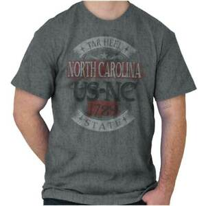 Traditional-North-Carolina-US-State-Tourist-Short-Sleeve-T-Shirt-Tees-Tshirts