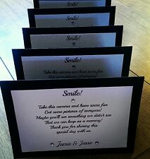 10 wedding disposable camera cards ( more colours available!)