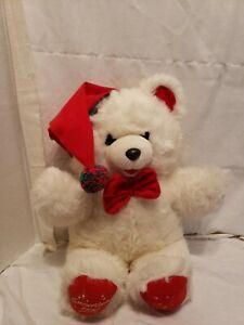 VINTAGE-1990-WAL-MART-SNOWFLAKE-TEDDY-BEAR-CHRISTMAS-STUFFED-ANIMAL-PLUSH-TOY