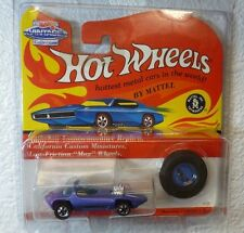 VINTAGE REDLINES 1993 HOT WHEELS SILHOUETTE - MF BLUE - in a PROTECTOR