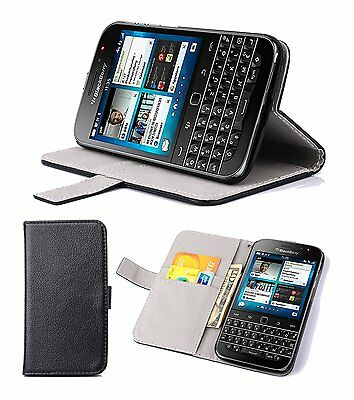 Supremery Blackberry Classic Q20 Hülle Tasche Flip Case Cover mit Standfunktion