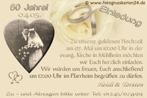 Details Zu Einladungen Goldene Hochzeit Einladungskarten Goldhochzeit Foto Kuverts