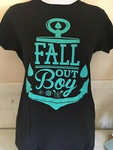 FALL-OUT-BOY-ANCHOR-OFFICIAL-LADIES-FITTED-MEDIUM-T-SHIRT-PUNK-ROCK-EMO