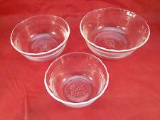 Pyrex Ramekin Custard Cup Set of 3 463 464 465 Clear Nesting Bowls Cups USA