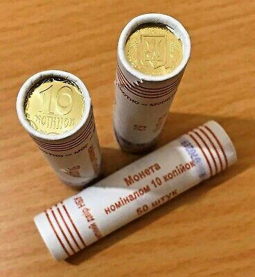KM # New 50 coins 2019 UNC BU kopecks x 10 KOPIYOK UKRAINE Bank ROLL