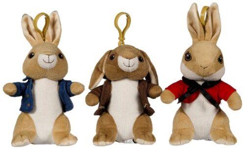 Beatrix Potter Peter Rabbit Gentle Soft Toy Plush Touch TV Character Bagclip