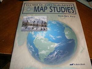 A beka abeka world geography map studies teacher key ebay image is loading a beka abeka world geography map studies teacher gumiabroncs Image collections