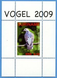 Surinam-2009-Block-107-Orient-Turteltaube-Vogel-Bird-Dove-Postfrisch-MNH