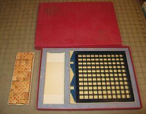 1966 SCRABBLE RSVP 3-D Game - Three Dimensional Crossword Game - Near Complete