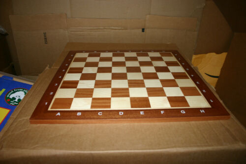 "Wegiel Professional Tournament Chess Board 5-18.9/"" Slightly Damaged No"