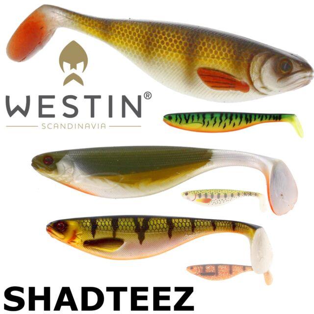 Zander Pike Lure Fishing Westin 5x Assorted 9cm Shad Teez- Perch