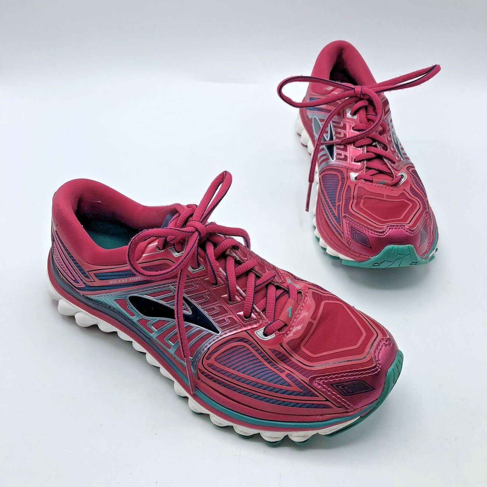 Brooks Glycerin G13 Women Pink bluee Running shoes Size 7.5M Pre Owned