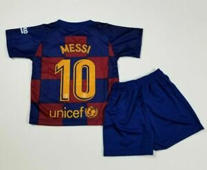 Barcelona Messi #10 kid/'s,Adults Home Soccer Jersey Footbal Uniform,Shorts,Socks