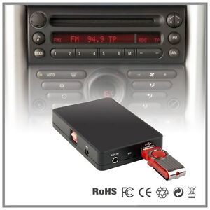 autoradio usb sd aux mp3 adaptateur mini cooper r50 r52 r53 boost cd tape ebay. Black Bedroom Furniture Sets. Home Design Ideas