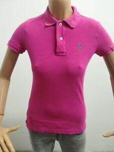 Dettagli su POLO RALPH LAUREN DONNA Taglia size XS maglia maglietta rosa cotone P 4778