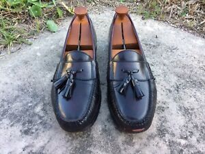 d4fad93ee25 Cole Haan Men s Brown Leather Slip On Tassel LOAFERS Size 10 M