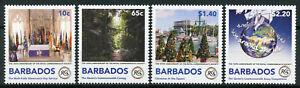 Barbade 2018 Neuf Sans Charnière Royal Commonwealth Society 4 V Set Arbres De Noël Timbres-afficher Le Titre D'origine