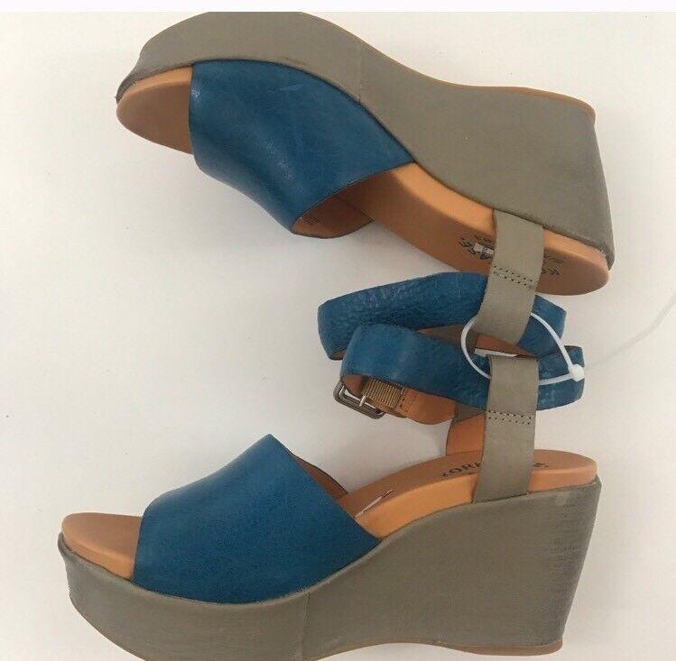 Kork -Ease Sandals  Leather Platform Heel Dimensione 8M K40622 CBHL15 blu BEIGE 13  autorizzazione