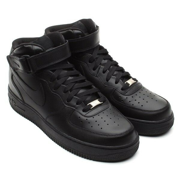 New homme Nike Air Obliger 1 Mid homme New Leather Basketball chaussures Baskets All Taille noir 34759b