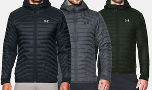 big sale bfedc e4d8f Image is loading NEW-Under-Armour-ColdGear-Reactor-Hybrid-Hooded-Jacket-