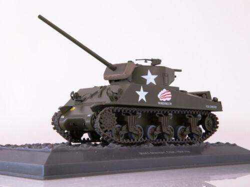M4A3 Sherman Main American Medium Tank 1944 Year 1//43 Scale Model Tank