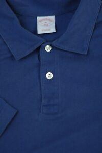 Brooks-Brothers-Men-039-s-Sea-Blue-Pique-Cotton-Polo-Shirt-XL-XLarge