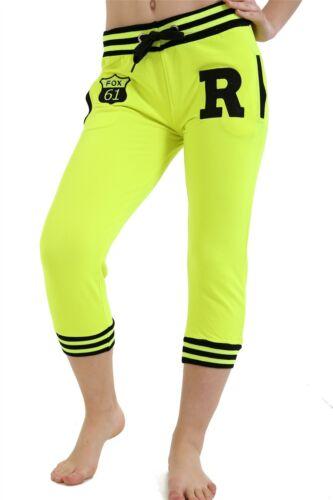 Nueva Camiseta Para Mujer De Tres Cuartos De Contraste Sports Gym Jogging Pantalones Deportivos Pantalones Control Ar Com Ar
