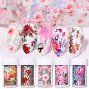 Nagel-Folien-Papier-Aufkleber-Decals-3D-Dekoration-Blumen-Nail-Art-Transfer