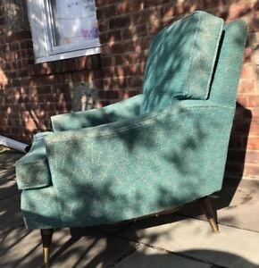 Vintage-50s-60s-MCM-Atomic-Arm-Club-Chair-Retro-Mid-Century-Modern-Furniture-VTG