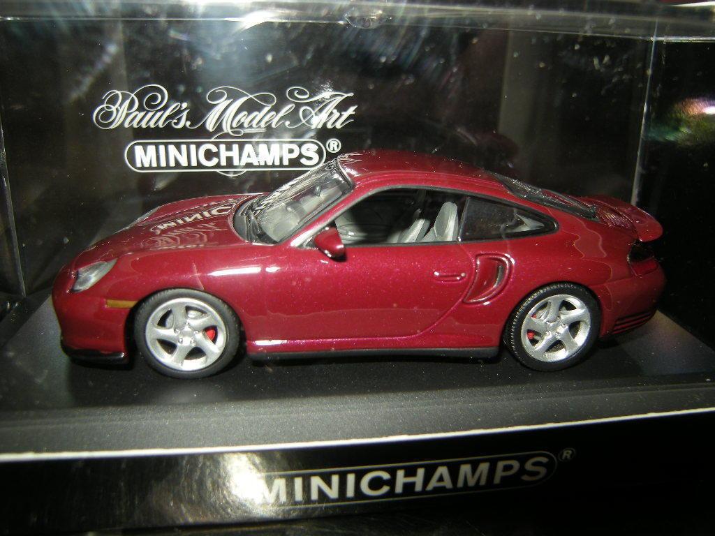 1 43 Minichamps Porsche 911 Turbo 1999 rouge ROUGE Nº 430069300 in neuf dans sa boîte
