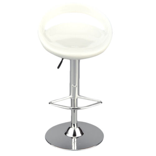 1//6 Scale Round Swivel Bar Stool Fits for 12/'/' Action Figures White