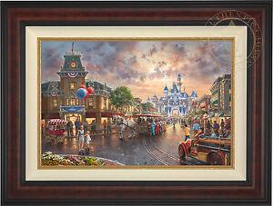 Thomas Kinkade Studios Disneyland 60th Anniversary 18 x 27 S//N LE Paper