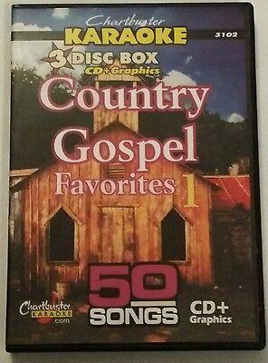 5102 3 Disc Set 50 Tracks New Sale Price Ingenious Chartbuster Karaoke Cdg Country Gospel