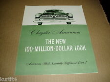1955 Chrysler New Yorker Windsor Imperial Newport sales brochure catalog folder