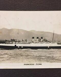 Vintage-Postcard-Ship-Princess-Joan-Boat-1940-Gowen-Vintage-P64